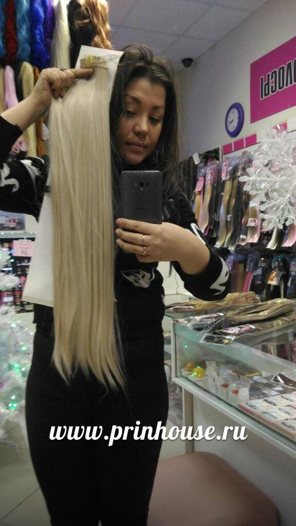 самые длинные волосы блонд на заколках