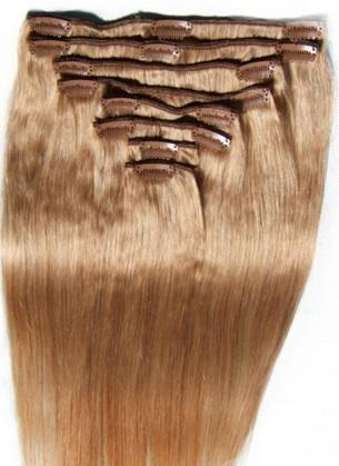 волосы русые на заколках