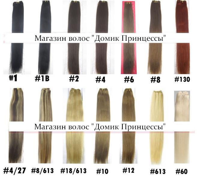 палитра натуральных волос