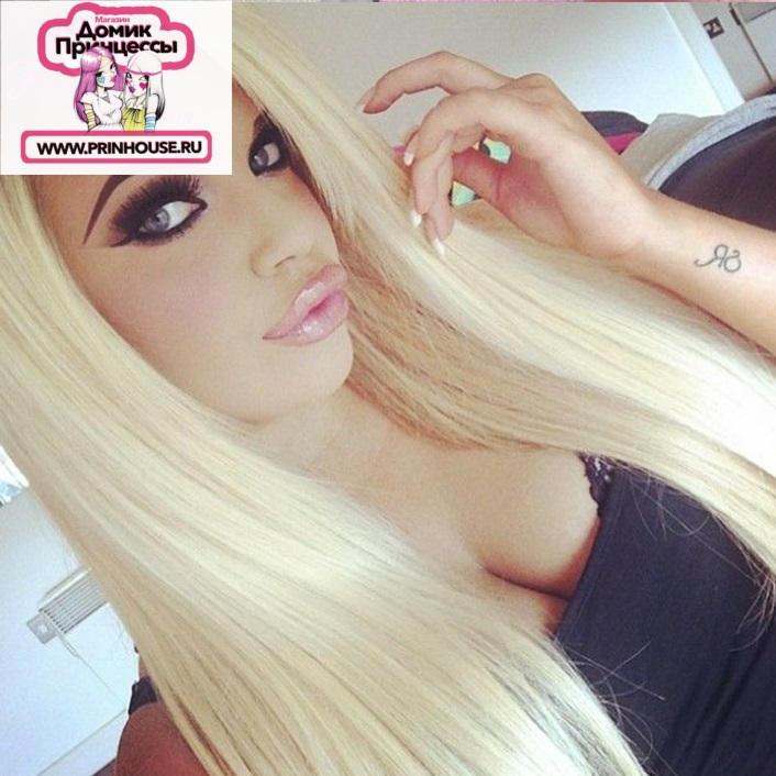 натуральный парик блонд