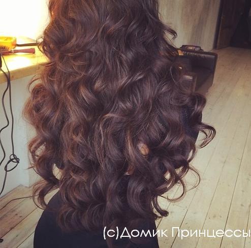 Красивые длинные волосы локоны