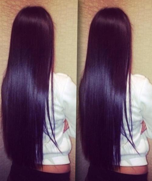 прямые красивые глянцевые волосы