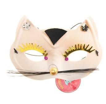 маска кошки белая