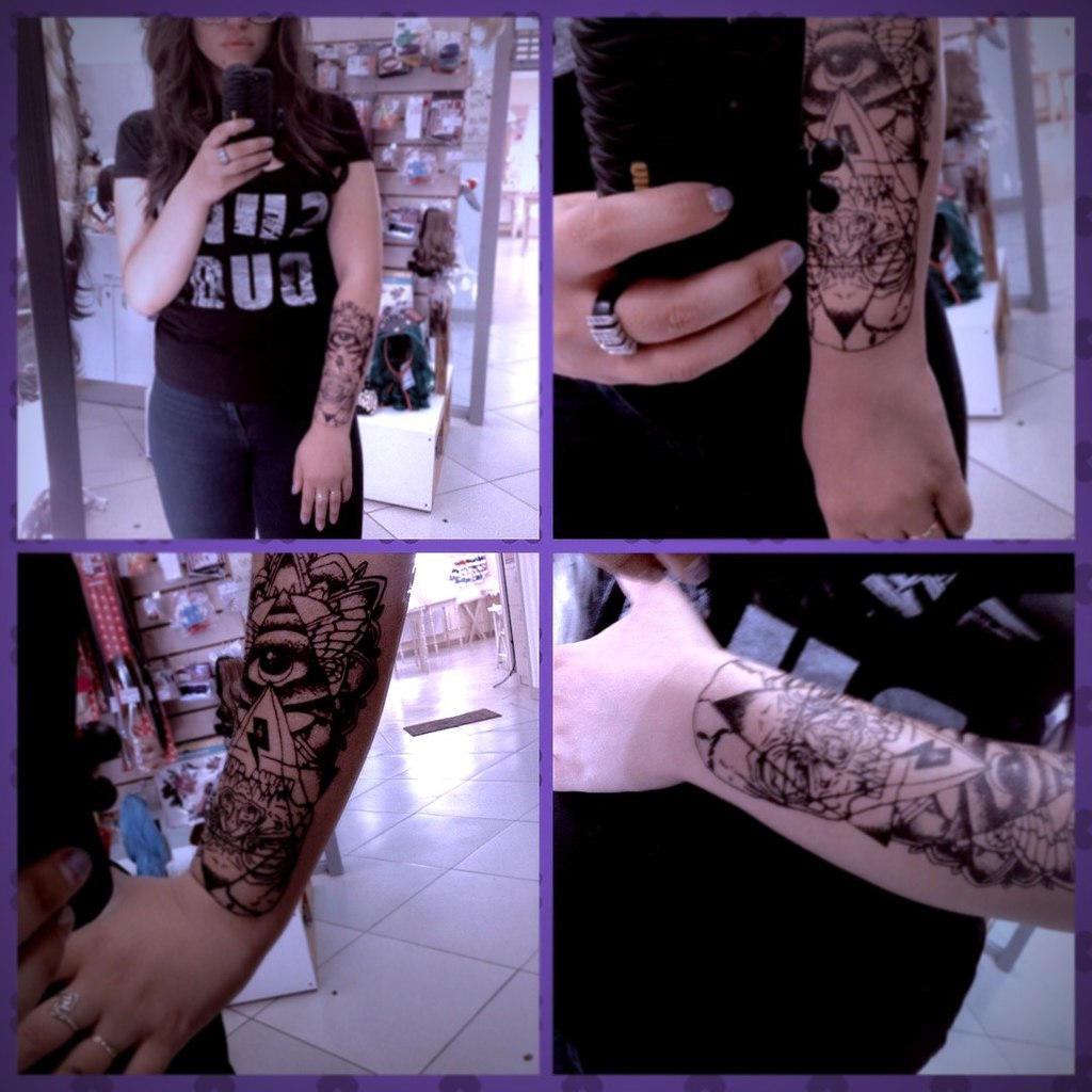 временная татуировка как настоящая