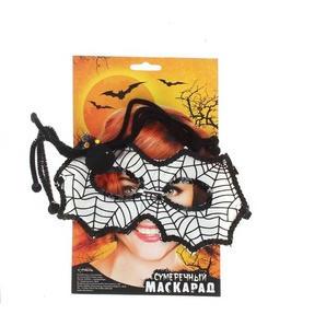 белая маска с пауком