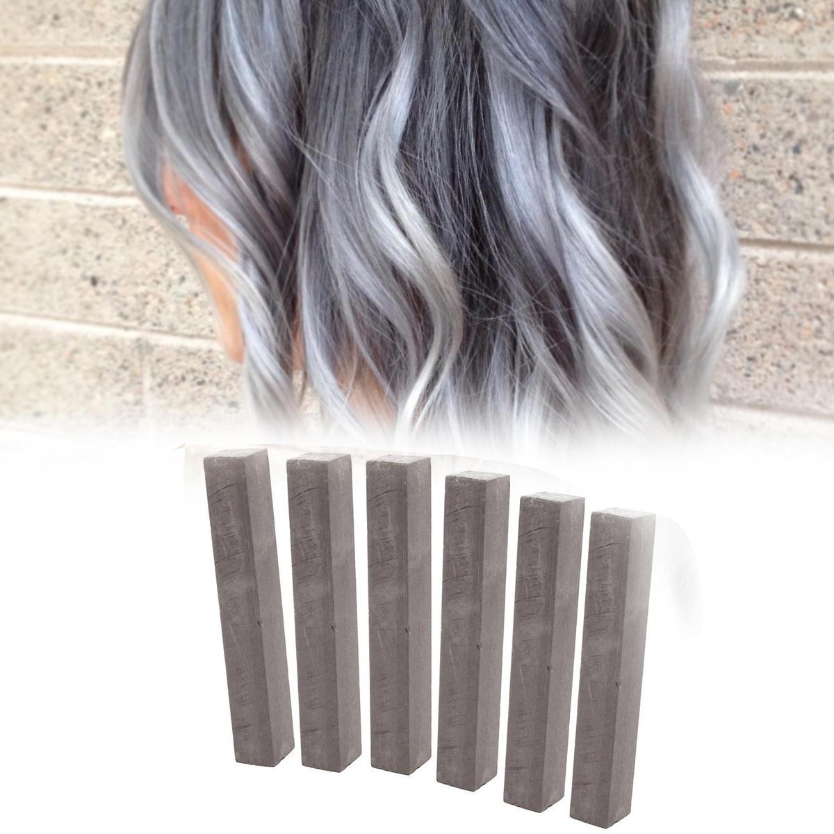 Мелки для волос набор серый цвет