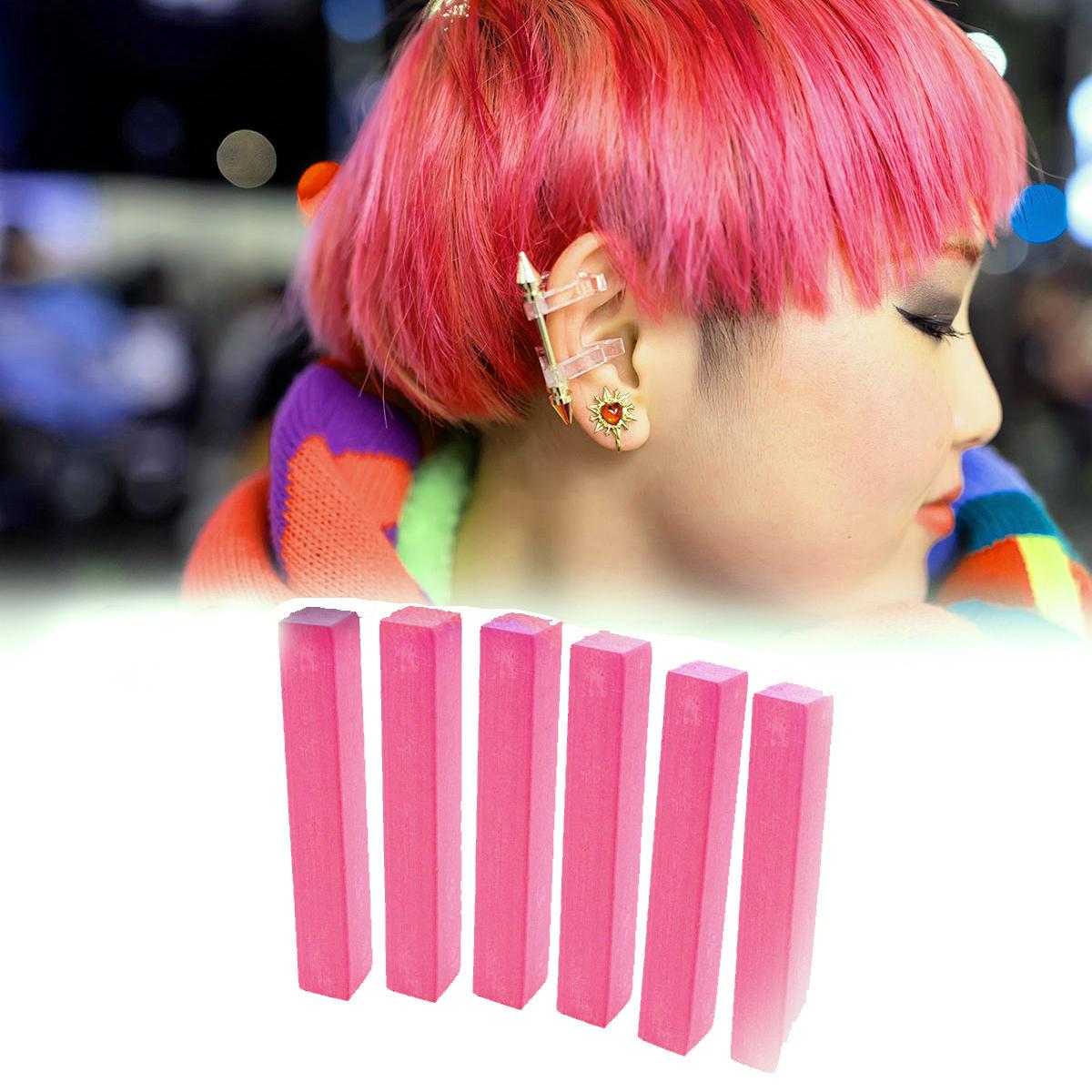 Розовые мелки для волос