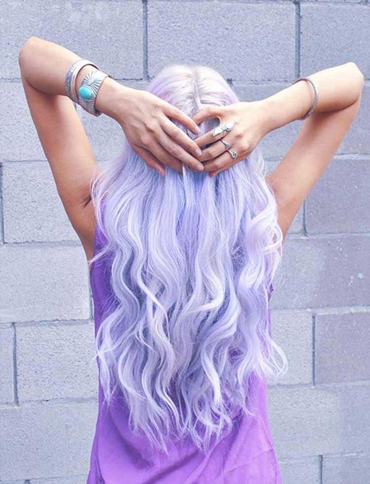 Сиреневые мелки для волос