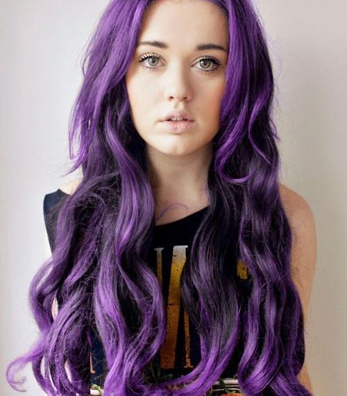 Фиолетовые мелки для волос