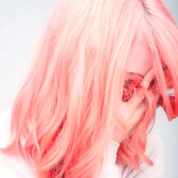 Персиковые мелки для волос