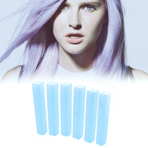 Голубые мелки для волос