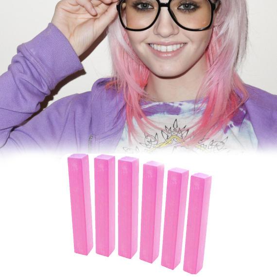Нежно-розовые мелки для волос