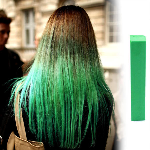 Зеленые мелки для волос