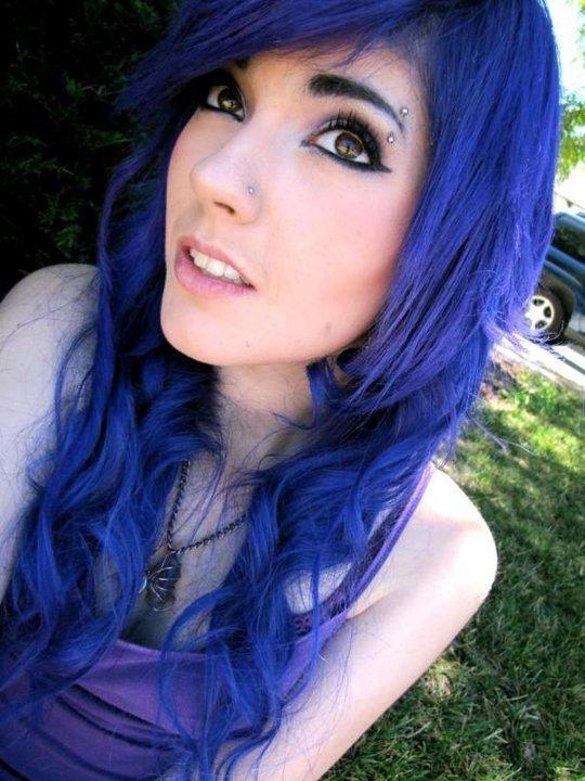 Синие мелки для волос