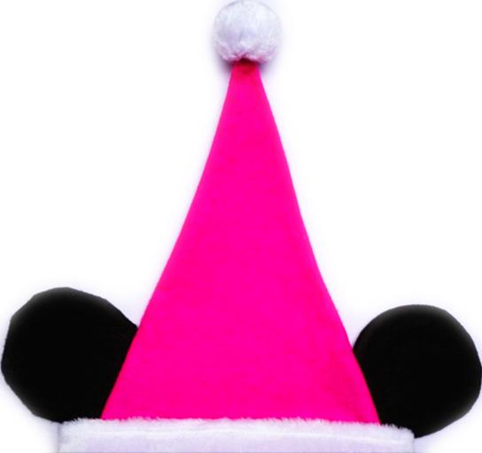 колпак новогодний Минни Маус розовый