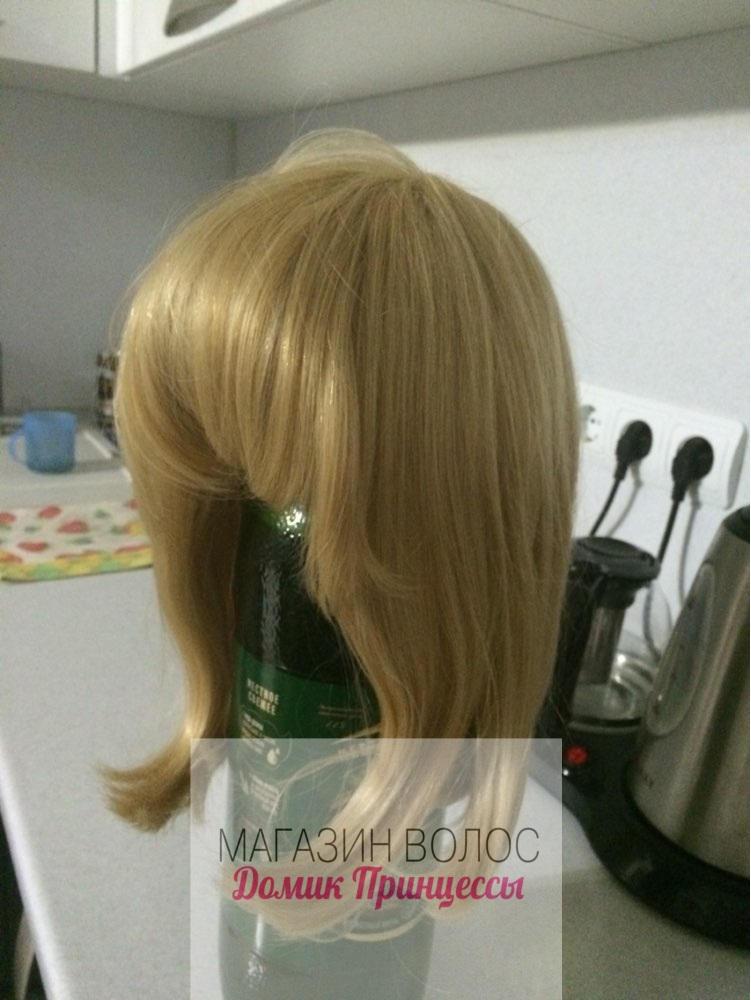 парик натуральный блонд с челкой