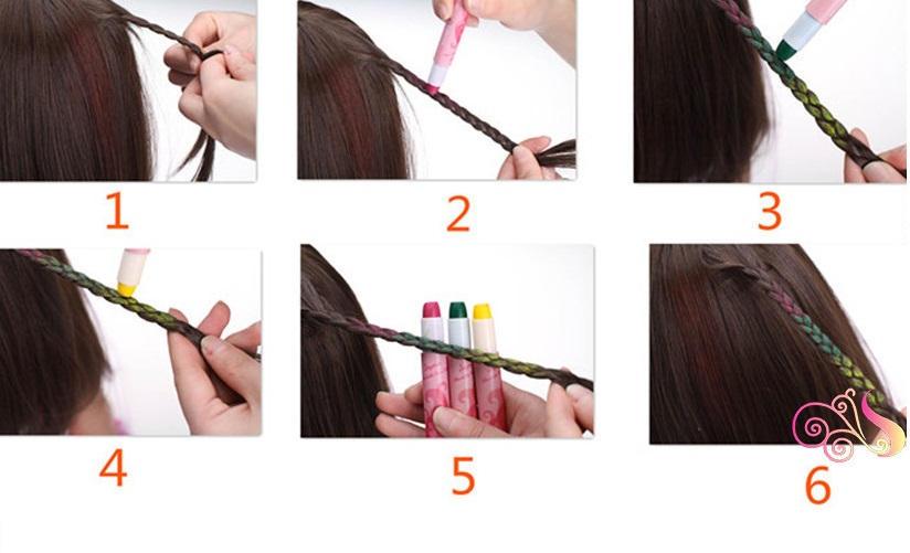 окраска волос карандашем мелком