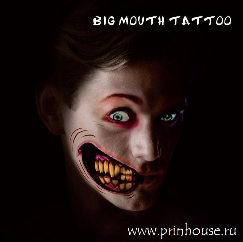Водостойкие временные татуировки Big Mouthe на карнавальный грим