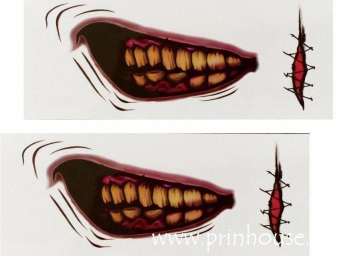 Водостойкие временные татуировки Big Mouthe