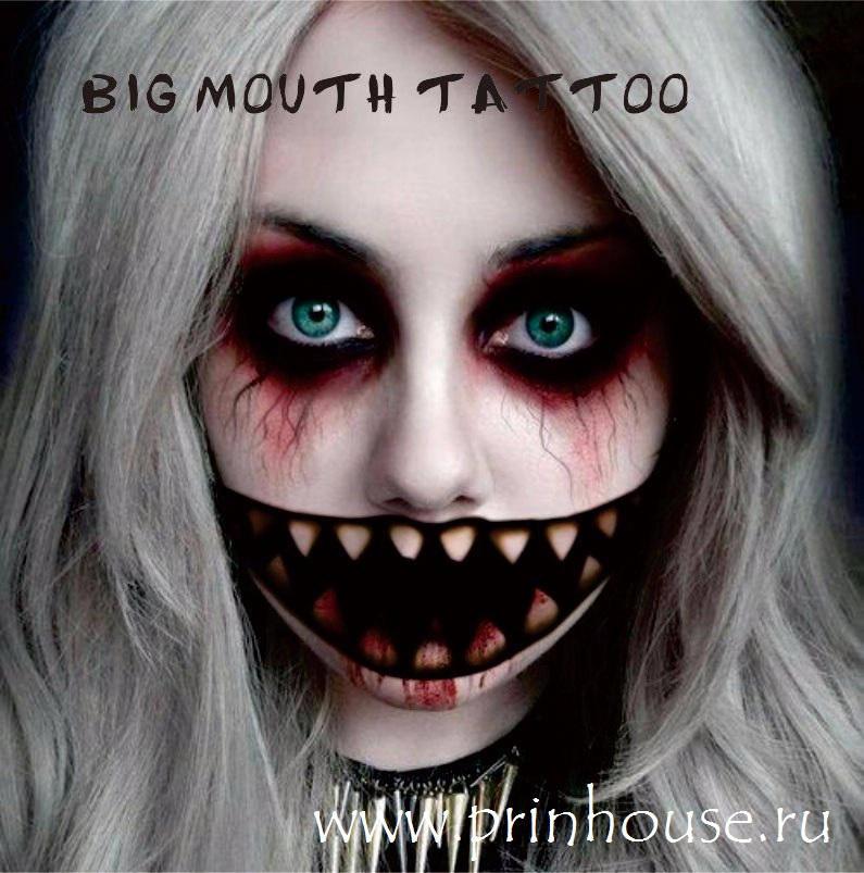 Водостойкие временные татуировки Big Mouthe с зубами на карнавальный грим