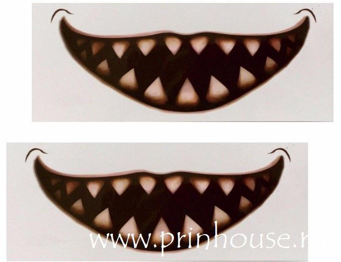 Водостойкие временные татуировки Big Mouthe с зубами