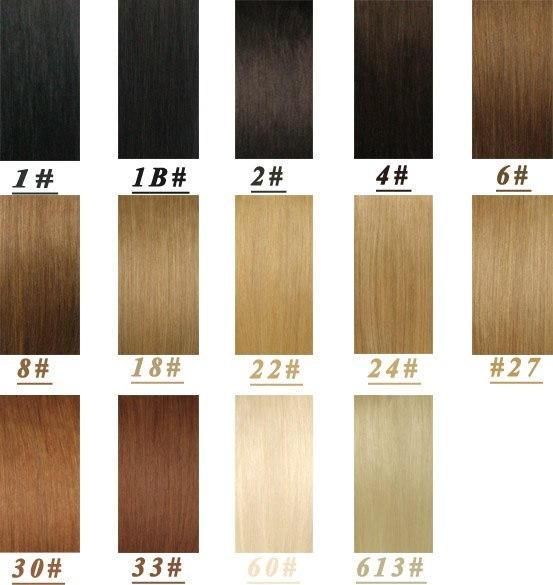 Натуральный волосы на заколках 60 см