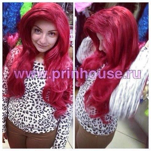парик красный русалочка Ариэль