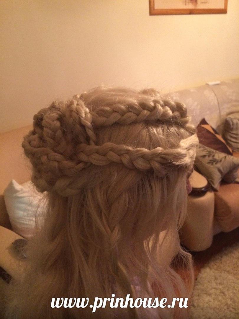 Парик из искусственного волоса волнистый ИГРА ПРЕСТОЛОВ эльф /принцесса/кхалиси/ арт.F119