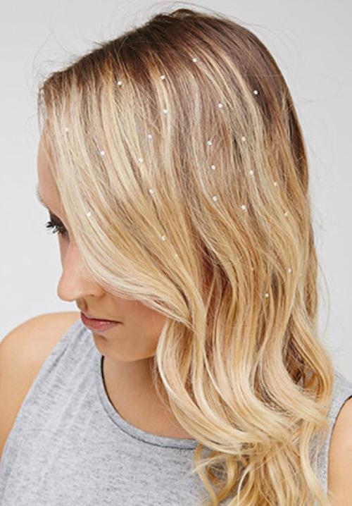 Стразы на леске для волос