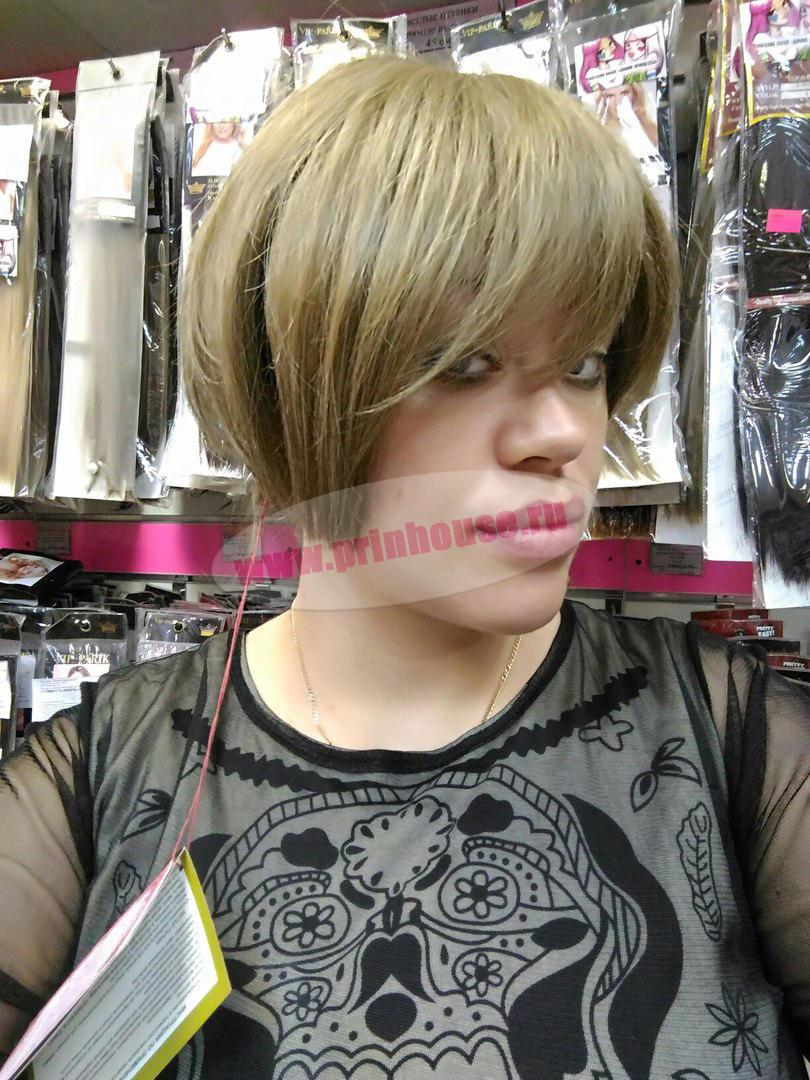 Парик из натуральных волос с имитацией кожи цвет 14
