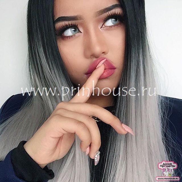 парик серый